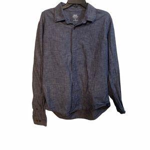 Izod men's button down XL denim shirt